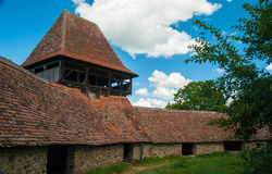 Viscri ha fortificato la chiesa, Transylvania, Romania Fotografia Stock Libera da Diritti