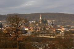 Viscri i Transylvania, Rumänien Royaltyfri Bild