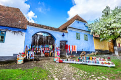 Viscri, Romania fotografie stock libere da diritti