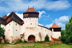 Viscri Rumänien royaltyfri foto