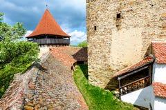 Viscri Rumänien arkivfoto