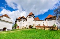 Viscri Rumänien arkivbild