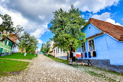 Viscri Rumänien Arkivbilder
