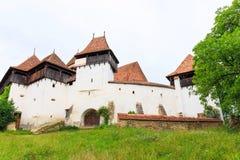 Viscri, saxon fortyfikował kościół zdjęcie royalty free