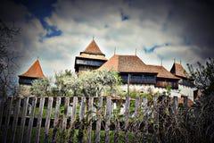 Viscri slott i Transylvania royaltyfri bild