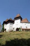 Viscri stärkte kyrkan, Transylvania, Rumänien royaltyfri bild