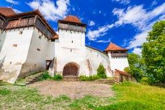 Viscri, Transsylvanië, Roemenië stock foto