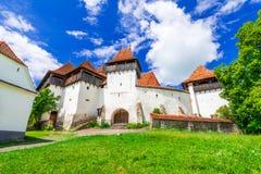 Viscri, Transsylvanië, Roemenië stock afbeeldingen