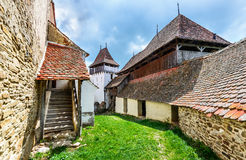 Viscri Transylvania, Rumänien royaltyfria foton