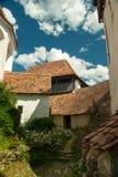 Viscri verstärkte Kirche, Transylvanien, Rumänien Stockbild
