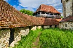 Viscri versterkte Kerk, Transsylvanië. royalty-vrije stock foto