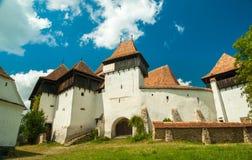 Viscri versterkte kerk, Transsylvanië, Roemenië stock afbeelding