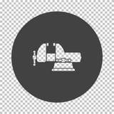 Vise icon. Subtract stencil design on tranparency grid. Vector illustration stock illustration