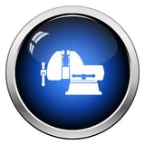 Vise icon. Glossy Button Design. Vector Illustration stock illustration