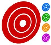 Vise o bullseye da marca/círculos concêntricos, ícone dos anéis Fotografia de Stock Royalty Free