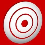 Vise o bullseye da marca/círculos concêntricos, ícone dos anéis Imagem de Stock