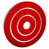 Vise o bullseye da marca/círculos concêntricos, ícone dos anéis Imagem de Stock Royalty Free