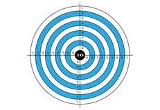 Vise o tiro, vetor, alvo na cor azul Imagens de Stock Royalty Free