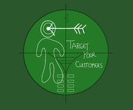 Vise seus clientes ilustração stock
