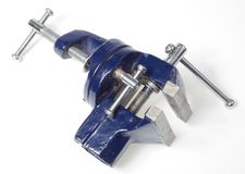 Vise on white Stock Photos
