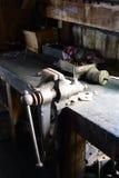 The vise in the workshop estates Harberton. stock images