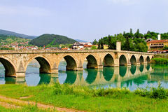 Visegrad bridge Royalty Free Stock Photography