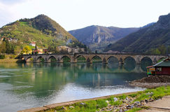 Visegrad bridge Royalty Free Stock Images