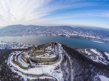 Visegrad castle from above Royalty Free Stock Image