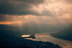 Visegrad Hungary, Danube sunset river Royalty Free Stock Photos
