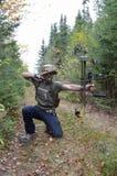 Viser de chasseur d'arc Images libres de droits
