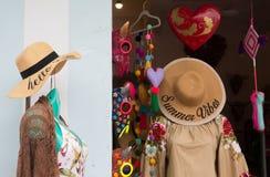 Viseur du magasin de l'habillement des femmes images libres de droits