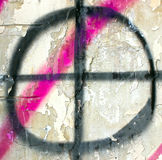 Visez le cercle sur un vieux mur, comme un fond Image stock