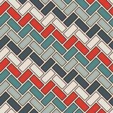 Visgraatbehang De achtergrond van het parket Naadloos patroon met herhaalde rechthoekige tegels Klassiek geometrisch ornament stock illustratie