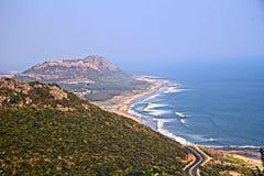 Vishakhapatnam的郊区 免版税库存图片
