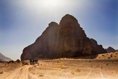 Vishetdal för sju pelare av månen Wadi Rum Jordan Royaltyfri Foto