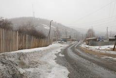 Vishnevogorsk-Dorf Stockfotografie