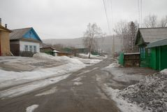 Vishnevogorsk village Royalty Free Stock Images