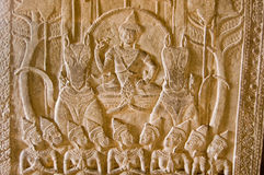 Vishnu στο άρμα που τραβιέται από τα άλογα Στοκ εικόνες με δικαίωμα ελεύθερης χρήσης