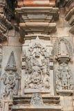 Vishnu als beeravatar bij Chennakeshava-Tempel in Belur, India stock afbeelding