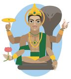 Vishnu deity illustration. Stock Photo
