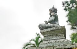 Vishnu est le dieu de l'hindouisme que les personnes d'Indy respectent images stock