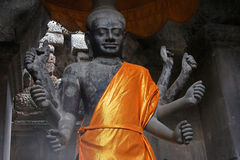 Vishnu Statue in Angkor Wat Temple Royalty Free Stock Image