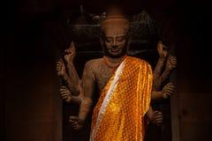 Vishnu statue in Angkor Wat temple Royalty Free Stock Photo