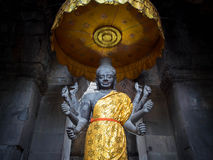 Vishnu Statue em Angkor Wat, Camboja Foto de Stock