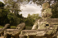 Vishnu Statue, Preah Khan Temple, Angkor Stock Photos