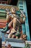 Vishnu - Supreme God of Hinduism - decoration. Vishnu - Supreme God in the Vaishnavite tradition of Hinduism, hindu temple decoration royalty free stock photos