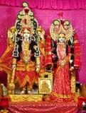 Vishnu y Lakshmi foto de archivo