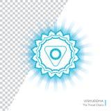 Vishuddha Το διάνυσμα Chakra απομόνωσε το minimalistic επίπεδο εικονίδιο Στοκ Εικόνες