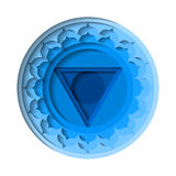 Vishuddha chakra icon Royalty Free Stock Image