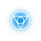 Vishuddha chakra icon Royalty Free Stock Images